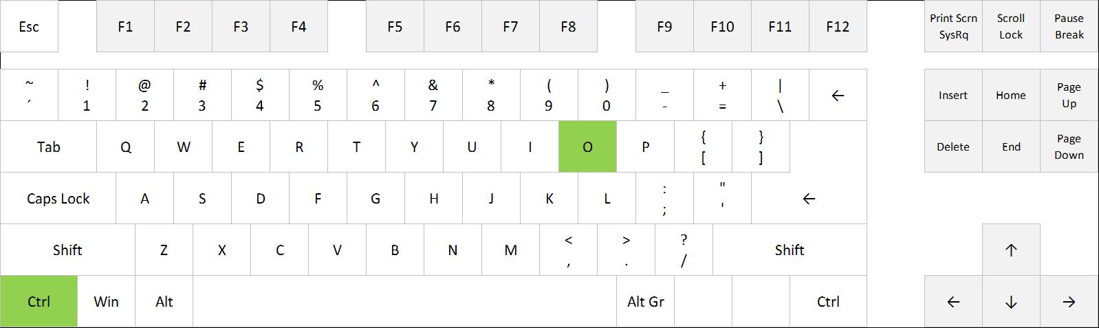 Open workbook in Excel: Ctrl+O